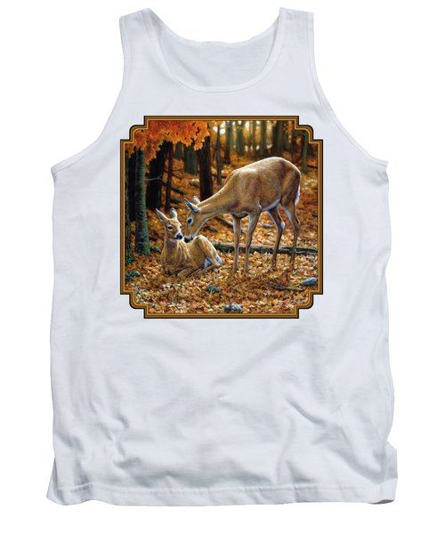 Whitetail Deer - Autumn Innocence 2 Tank Top by Crista Forest