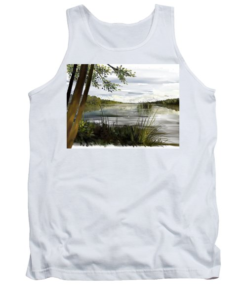Quiet Day By Lake Tank Top