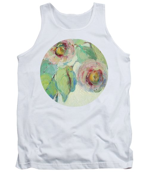 Impressionist Roses  Tank Top by Mary Wolf