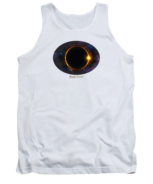 Total Solar Eclipse In Space Tank Top