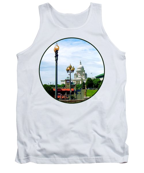 Capitol Building Seen From Waterplace Park Tank Top by Susan Savad