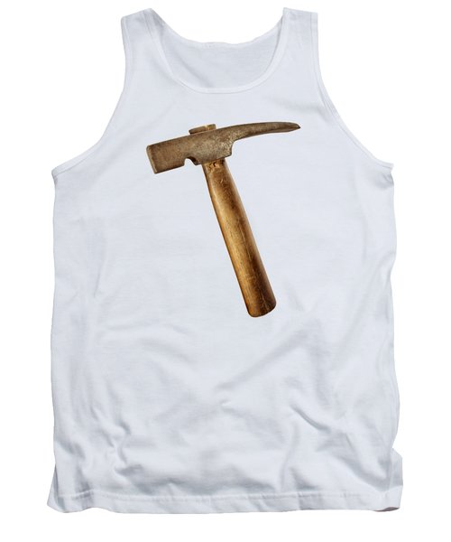 Antique Plumb Masonry Hammer On Color Paper Tank Top
