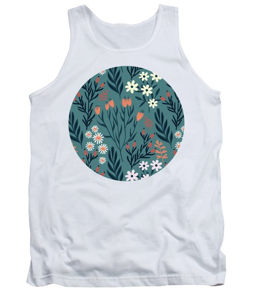 Beautiful Springtime Evening Garden Pattern Tank Top