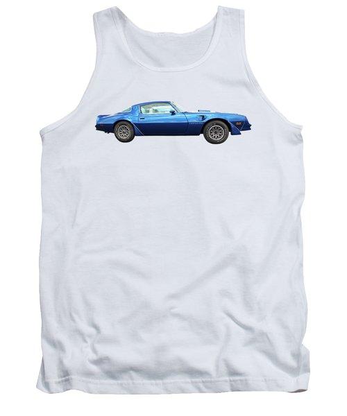 Blue Pontiac Trans Am 1978 Tank Top