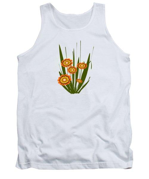 Orange Flowers Tank Top by Anastasiya Malakhova
