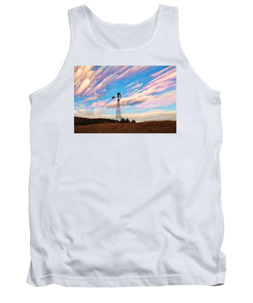 Tank Top featuring the photograph Crazy Wild Windmill by Bill Kesler