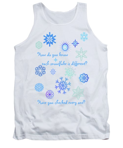 Snowflakes Tank Top by Methune Hively