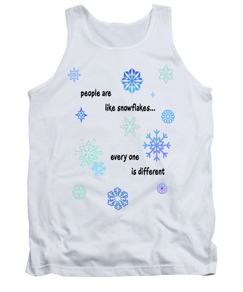 Snowflakes 3 Tank Top by Methune Hively