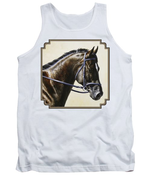 Dressage Horse - Concentration Tank Top by Crista Forest