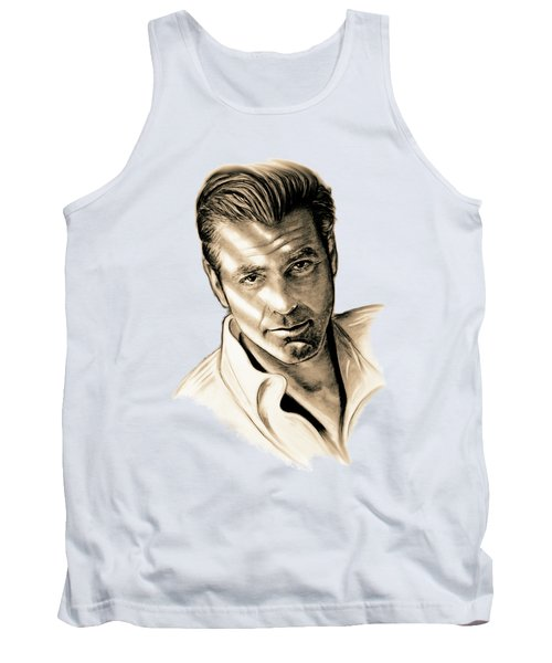 George Clooney Tank Top by Gitta Glaeser