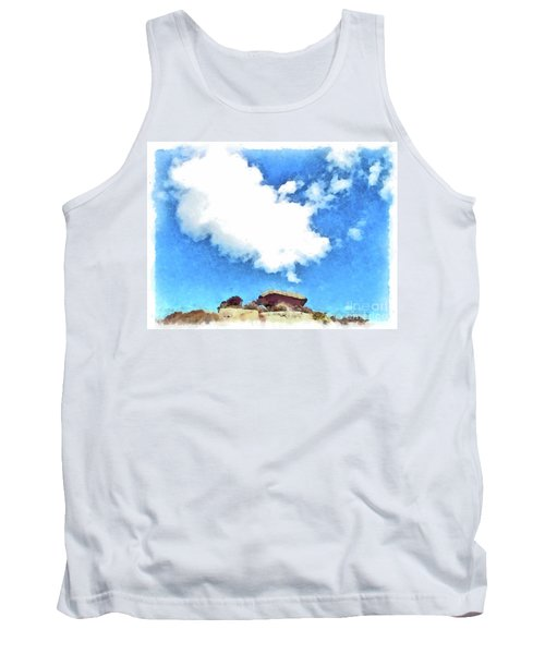 Arzachena Mushroom Rock With Cloud Tank Top