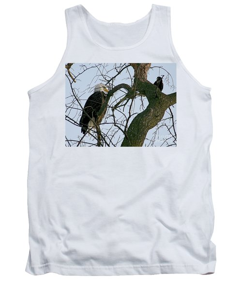 As The Eagle Looks On Tank Top by Sue Stefanowicz