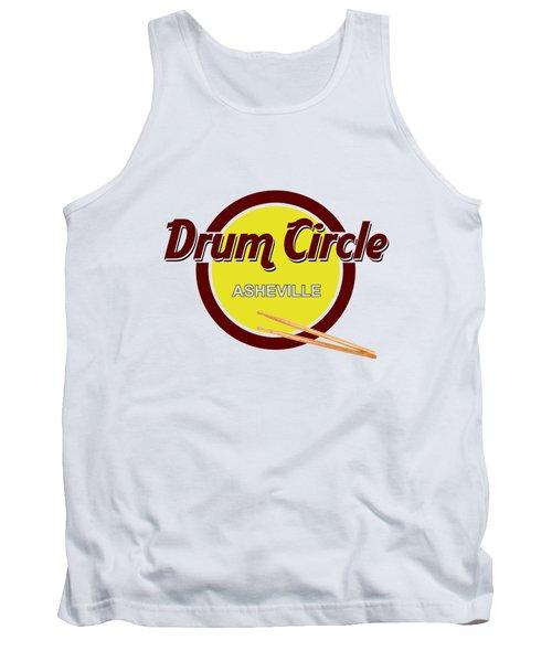 Asheville Drum Circle Logo Tank Top by John Haldane