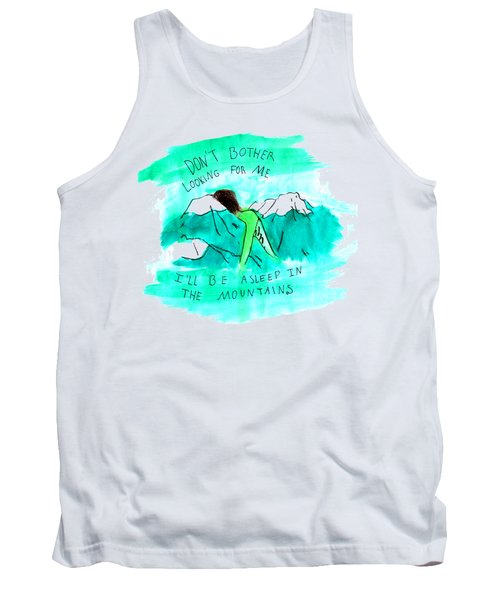 Asleep In The Mountains Tank Top