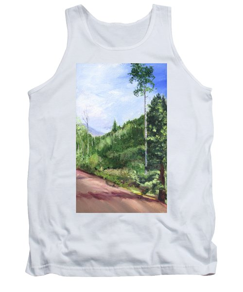 Tank Top featuring the painting Aspen Heaven by Jane Autry