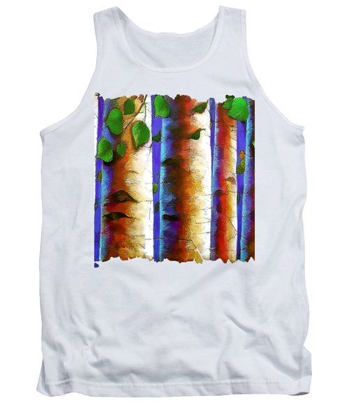 Aspen Trees Fresco Tank Top