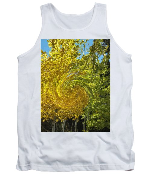 Tank Top featuring the photograph Aspens Turning by Gary Baird