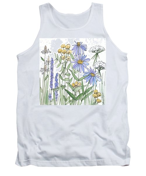 Asters And Wildflowers Tank Top