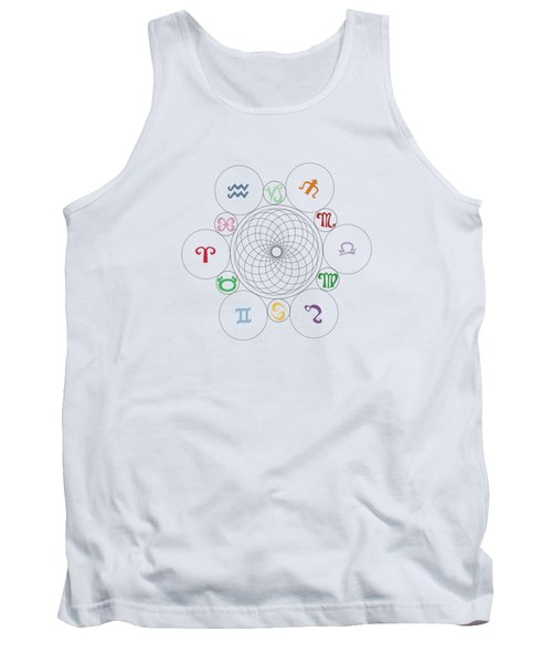 Astrological Sacred Geometry Image Tank Top by Shelley Overton