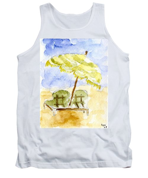 At The Beach Tank Top by Afinelyne