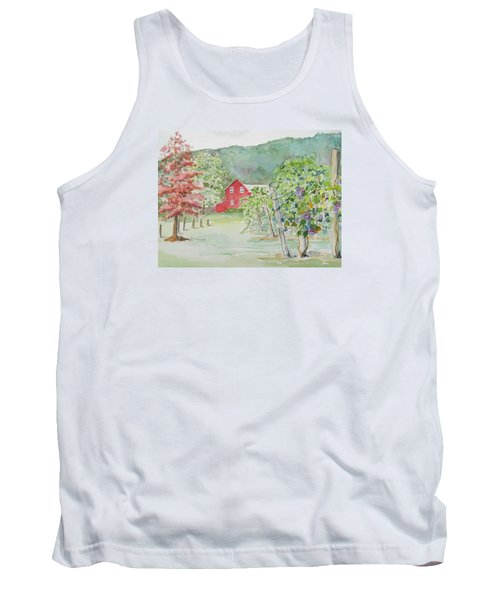 At The Winery Tank Top by Christine Lathrop