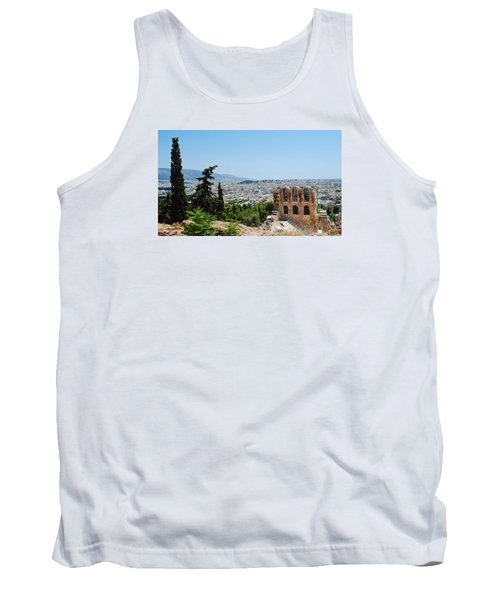 Athens From Acropolis Tank Top