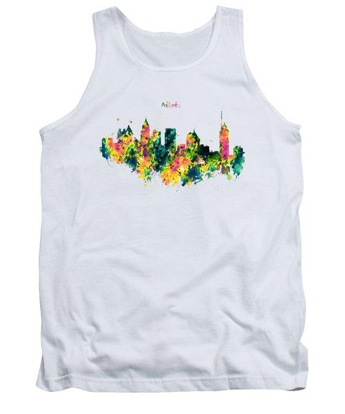 Atlanta Watercolor Skyline  Tank Top