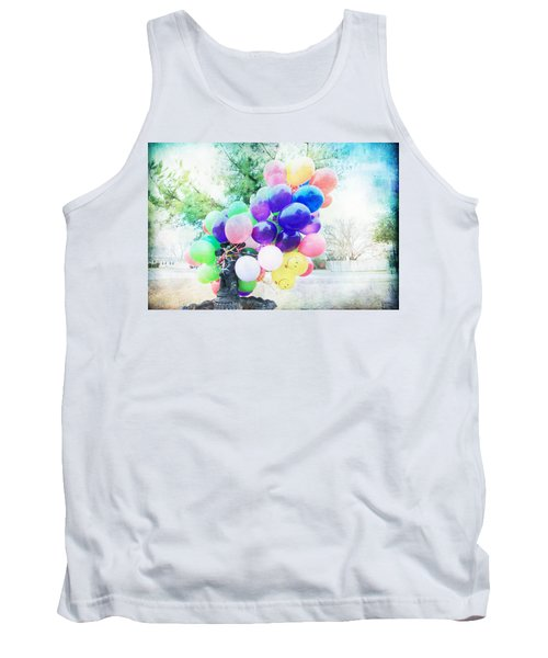 Tank Top featuring the photograph Smiley Face Balloons by Toni Hopper