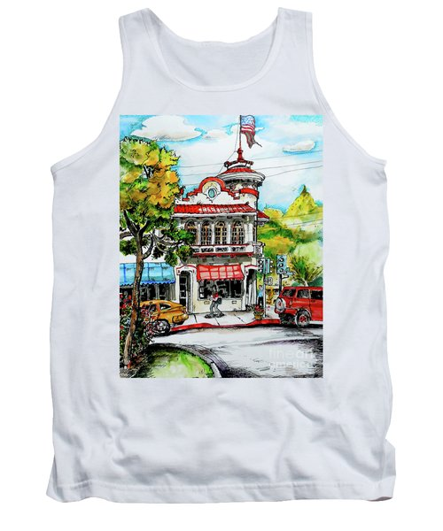 Tank Top featuring the painting Auburn Historical by Terry Banderas