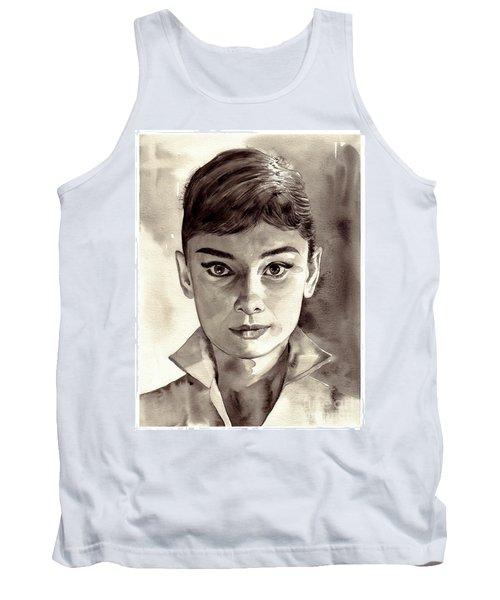 Audrey Hepburn Black And White Tank Top