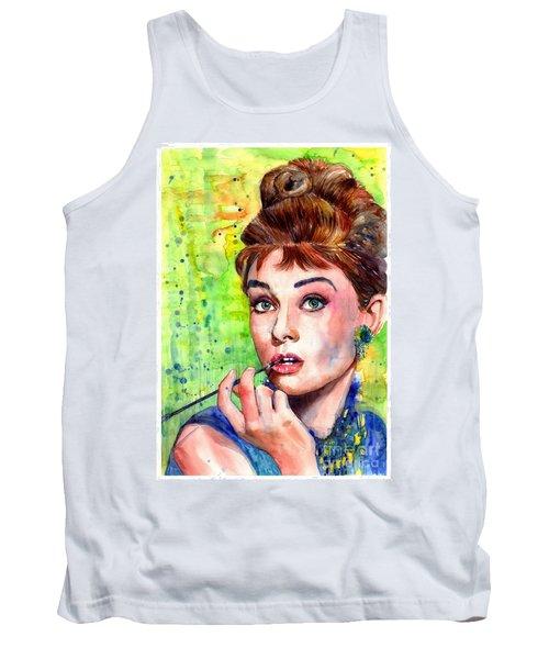 Audrey Hepburn Watercolor Tank Top