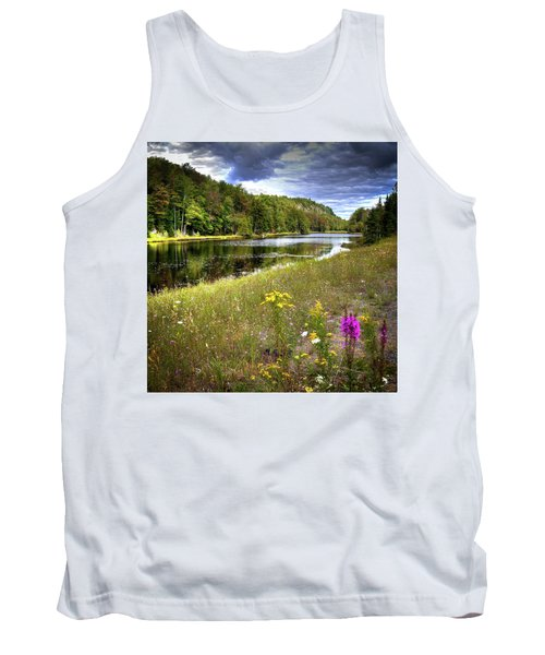 Tank Top featuring the photograph August Flowers On The Pond by David Patterson
