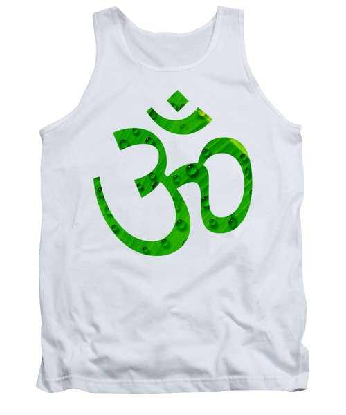 Aum Symbol Digital Painting Tank Top by Georgeta Blanaru