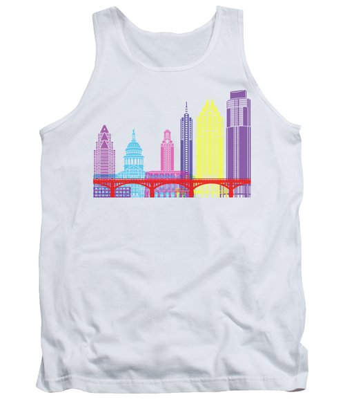 Austin Skyline Pop Tank Top by Pablo Romero