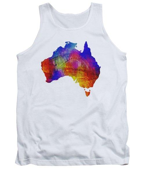 Australia And Sydney Harbour Bridge By Kaye Menner Tank Top
