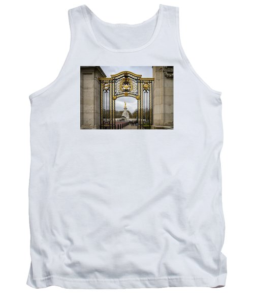 Australia Gate Towards Queen Victoria's Statue Tank Top by Shirley Mitchell