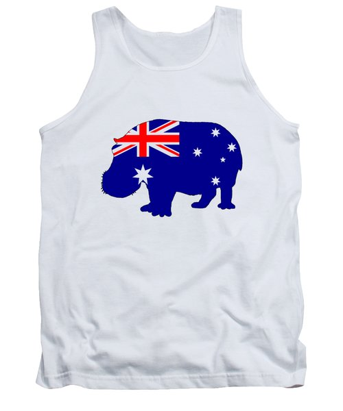 Australian Flag - Hippopotamus Tank Top by Mordax Furittus