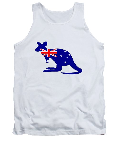Australian Flag - Kangaroo Tank Top by Mordax Furittus