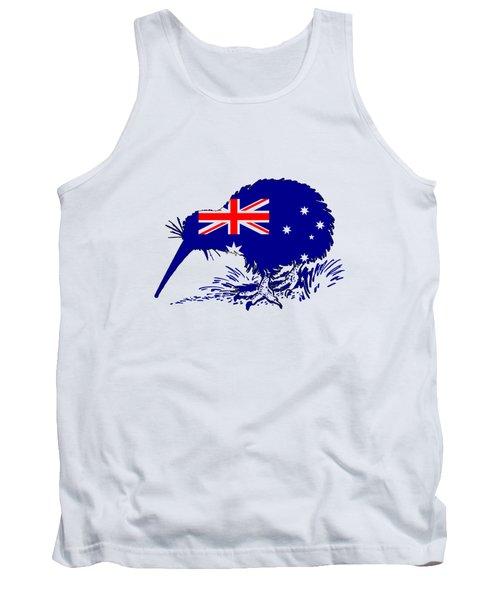 Australian Flag - Kiwi Bird Tank Top by Mordax Furittus