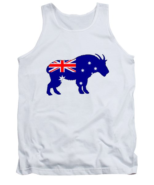 Australian Flag - Mountain Goat Tank Top
