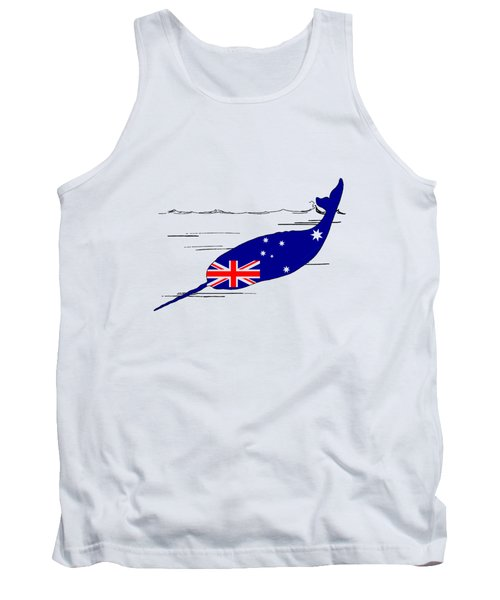 Australian Flag - Narwhal Tank Top by Mordax Furittus