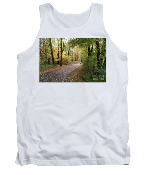 Tank Top featuring the photograph Autumn Bicycling by Felipe Adan Lerma