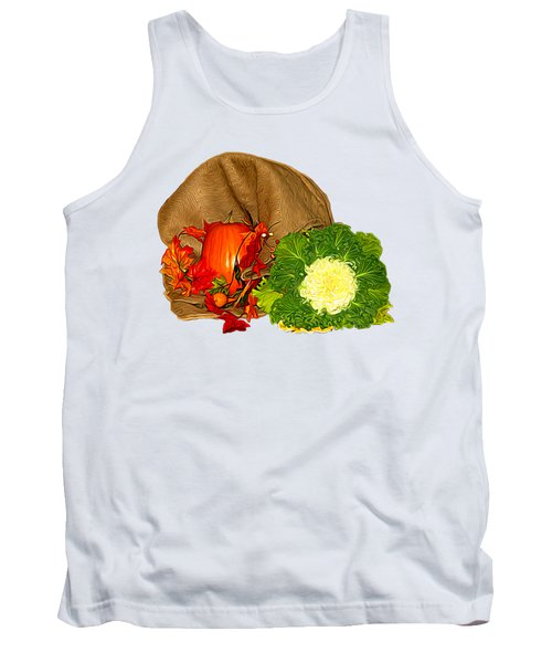 Autumn Display Expressionist Effect Tank Top