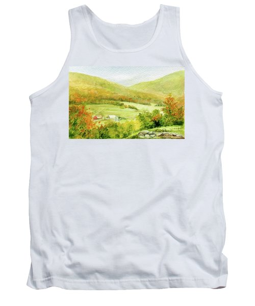 Autumn Farm In Vermont Tank Top