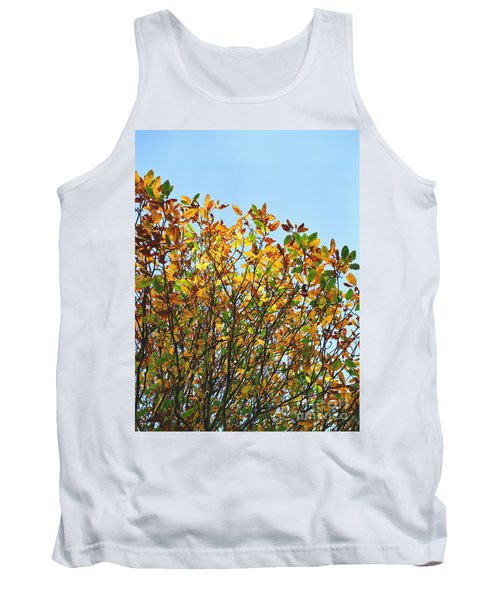 Tank Top featuring the photograph Autumn Flames - Original by Rebecca Harman