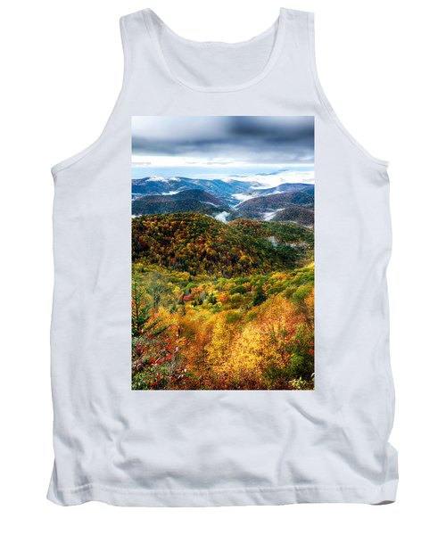 Autumn Foliage On Blue Ridge Parkway Near Maggie Valley North Ca Tank Top