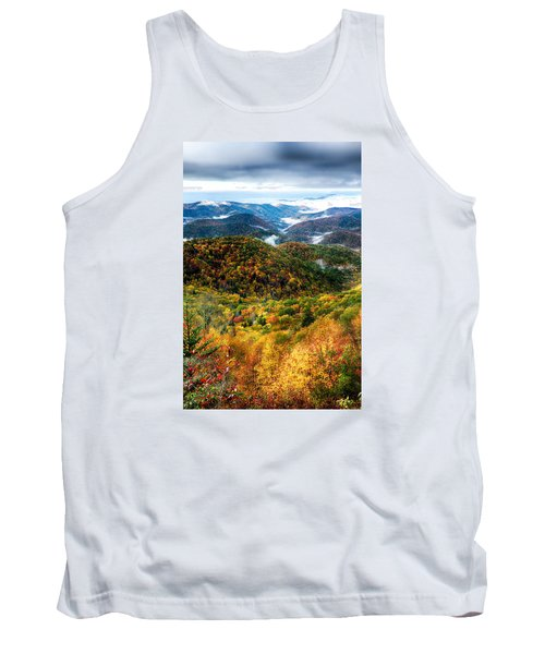 Tank Top featuring the photograph Autumn Foliage On Blue Ridge Parkway Near Maggie Valley North Ca by Alex Grichenko