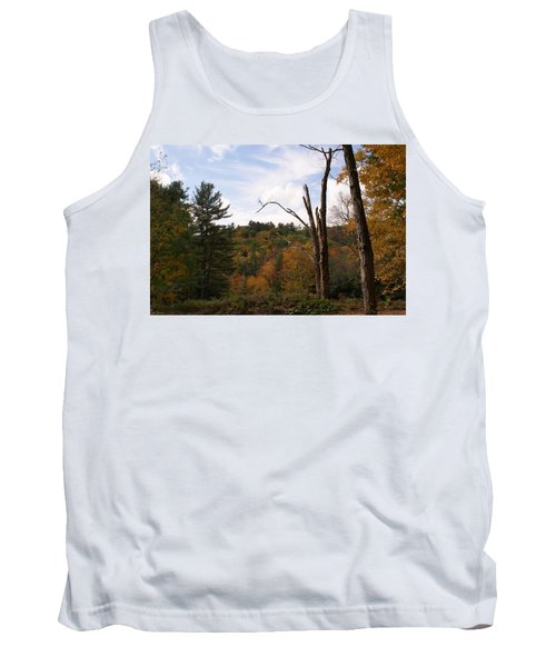 Tank Top featuring the photograph Autumn In The Hills by Lois Lepisto