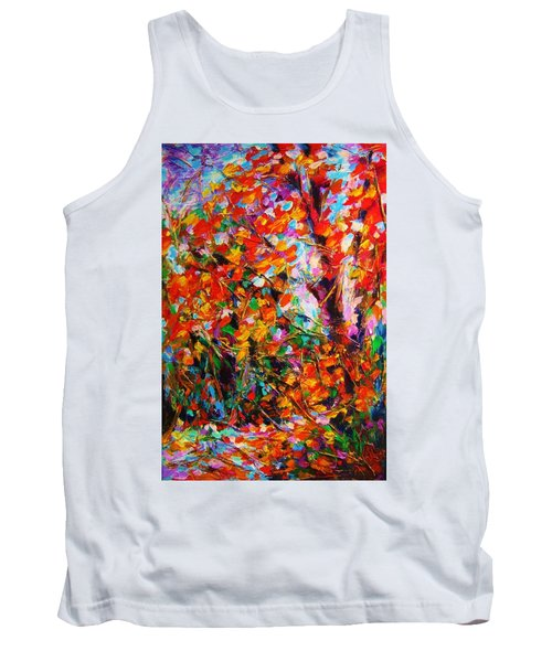 Autumn Leaves Tank Top by Helen Kagan