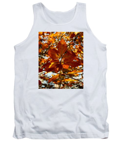 Tank Top featuring the photograph Autumn Leaves by Karen Harrison